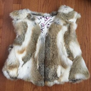 Jackets & Blazers - Real rabbit fur vest